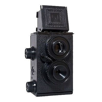 (New Recesky 35mm Twin Lens Reflex TLR Holga Lomo Camera DIY Kit Black Color)