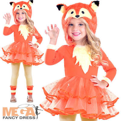 Fox Girls Fancy Dress Animal World Book Day Character Childrens Kids Costume New