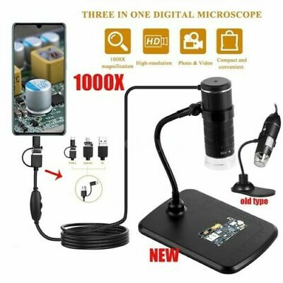3 In 1 Mobile Phone Microscope Typec Android Computer Digital Microscope Kids