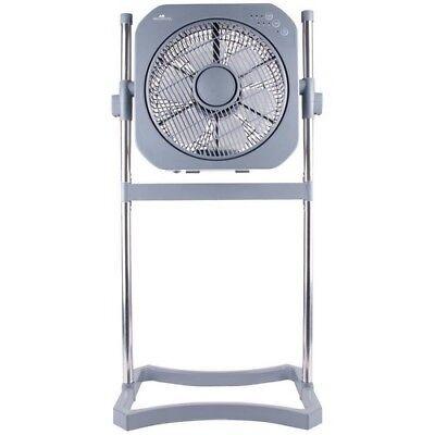 (Pedestal Fan 12 Inch Stand Floor 3 Speed Oscillating Adjustable Height Timer Air)