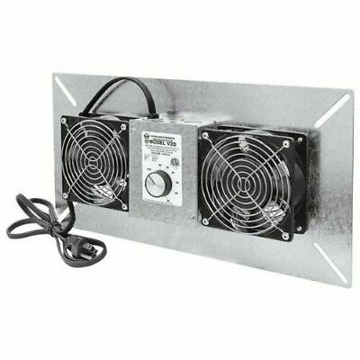 Tjernlund Underaire Crawl Space Ventilator-deluxe Two-fan 220 Cfm V2d New
