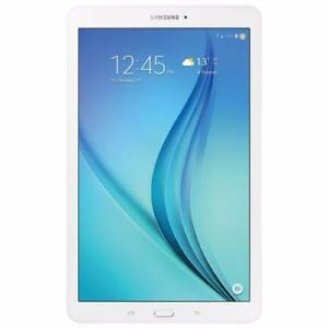 "AUCTION Samsung Galaxy Tab E 9.6"" Tablet 16GB - White - SM-T560NZWUXAC (New, Open) - A3"