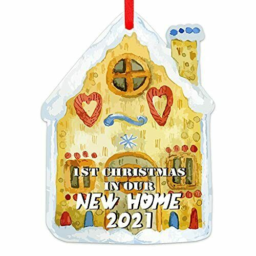 First Christmas in Our New Home Ornaments 2021 House-Shape 1st New Home