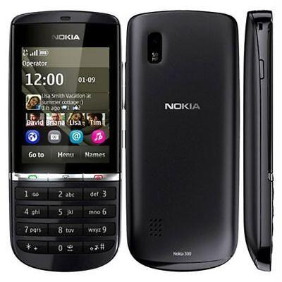 Nokia Asha 300 Graphite Gray 5.0MP Touch & Keyboard 3G Unlocked Cellphone