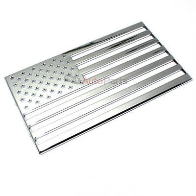 3D American Flag USA Chrome Emblem-Decal Sticker for Auto-Car-Truck-Bike