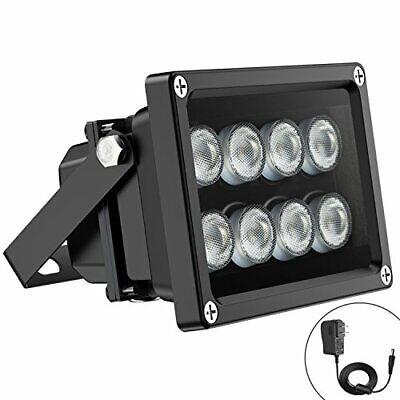 Univivi IR Illuminator 90 Degree Wide Angle 8-LEDs IR Infrared Light for Secu...