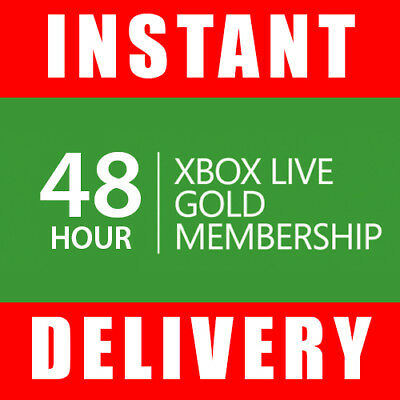 Xbox Live 48 Hour Gold Trial Membership Code (2 Days) - Instant Dispatch 24/7 for sale  New York