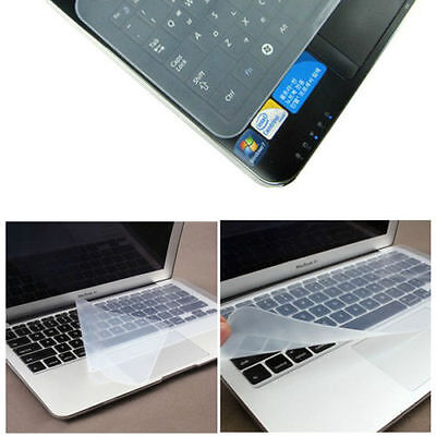 "Universal Silicone Keyboard Cover Skin Protector for 15""  Laptop UK Seller"