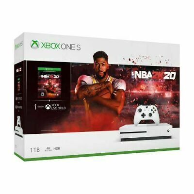 Xbox One S 1TB NBA2K20 Console Physical Copy Game Bundle New