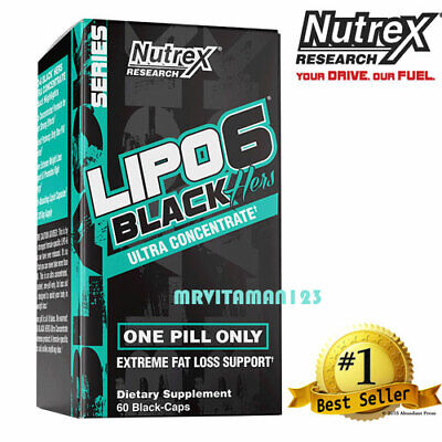 Nutrex LIPO 6 Black Hers Ultra Concentrate / Weight Loss 60 Caps