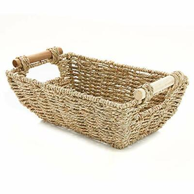 """Americanflat Storage Basket with Wooden Handles - 12"""" x 7"""""""