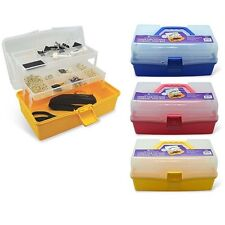 Home Collections Multi Purpose Three-Tier Folding Tool Box - Assorted Colors