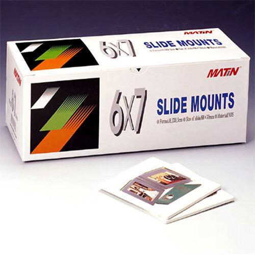 Matin 6x7 Slide Mounts Medium Format Frame Glassless Two-Piece (50 Pcs)
