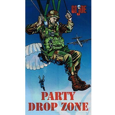 GI JOE VINTAGE PLASTIC DOOR POSTER ~ Birthday Party Supplies Decorations Rare - Gi Joe Party Supplies
