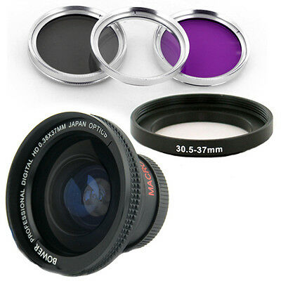 Bower 30.5mm 0.38x Wide Angle Lens, Filters For Jvc Everi...