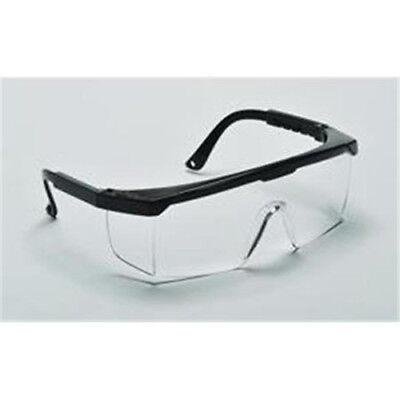 Lot 2 Adjustable Temples Anti-scratch Safety Glasses Clear Lens
