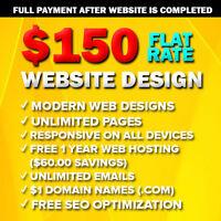 ✪ VERY AFFORDABLE WEB DESIGNER ✪ $150 PROFESSIONAL WEBSITE