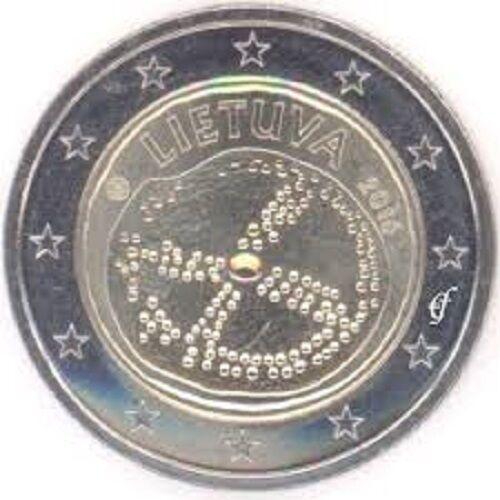 LITHUANIA 2 euro 2016 BALTIC CULTURE UNC BIMETALLIC