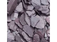40 mm blue slate garden and driveway chips/ stones/ gravel
