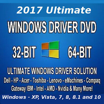 2017 Repair Restore Computer Drivers DVD for Windows 7 8 XP Vista 10 32 64 bit