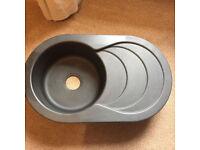 Astracast Cascade 1.0 Bowl Metallic Granite Volcano Black Reversible Sink