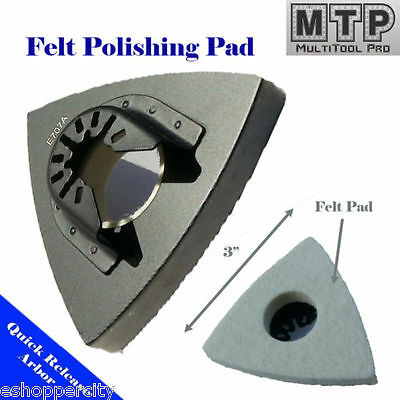 Wool Felt Polishing Pad For Oscillating Tool For Fein Multimaster Bosch Dremel