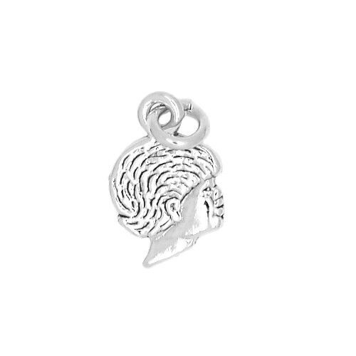 SILVER ONE SIDED BOY SILHOUETTE  CHARM OR PENDANT