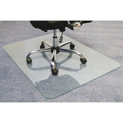 Cleartex Glaciermat Glass Chair Mat - Hard Floor Home Office Carpet - 48