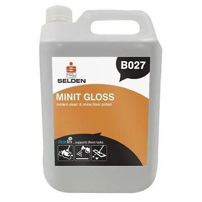 Selden B027 Floor Care Minit Gloss instant clean & shine floor polish - 5 Litres