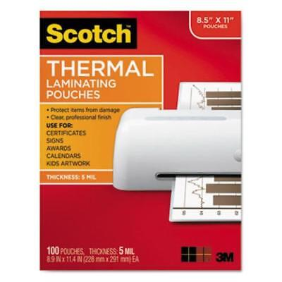** Letter Size Thermal Laminating Pouches, 5 mil, 11 1/2 x 9