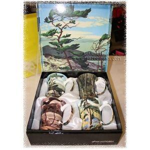 """""""Group of 7"""" - Set of 4 Gift Boxed Fine Bone China Mug Set"""
