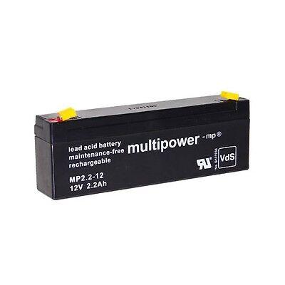 Blei-Gel Akku 12V 2,2Ah für ABUS Alarmsirene Blitzleuchte SG1800 Batterie