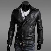 Mens Leather Aviator Jacket