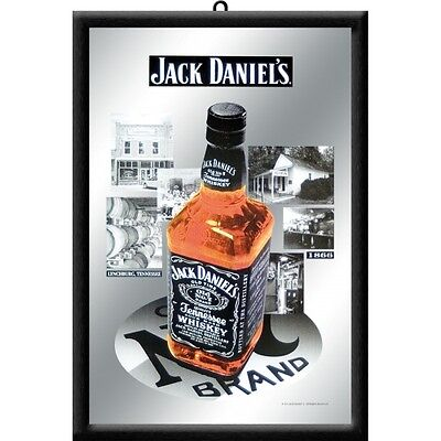 Jack Daniels Pictures Nostalgia Bar Mirror Mirror Bar Mirror 22 x 32 cm for sale  Shipping to Canada