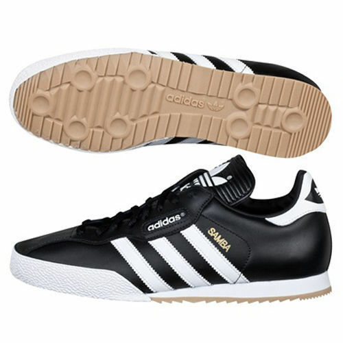 נעלי ספורט לגברים adidas Samba Originals Trainers Black Leather Classic Super