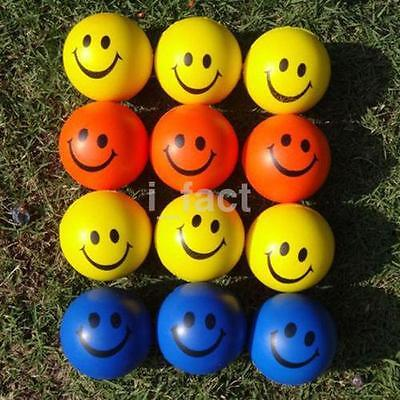 2Pc Funny Smile Face Anti Stress Reliever Ball ADHD Autism Mood Toy Squeeze US