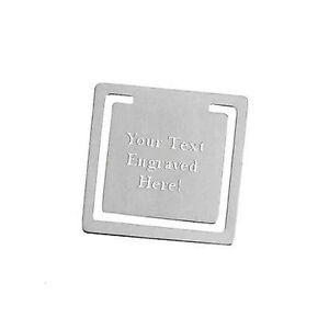 Personalised-Brushed-Finish-Stainless-Steel-Square-Bookmark-Engraved-Gift