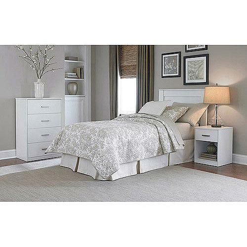 Powell White Twin Bedroom In A Box: White Twin Bedroom Set