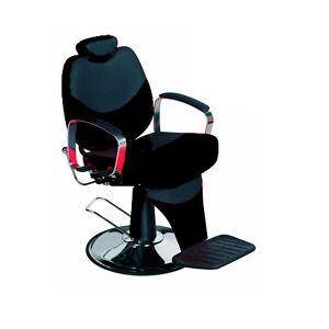 New Black Reclining Salon Barber Chair For Hair Cutting BX1045B EBay