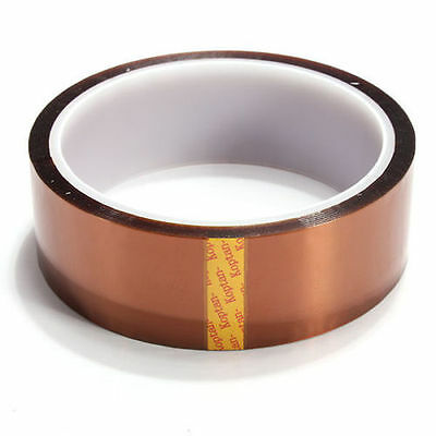 30mm 100ft Kapton Tape Resistant High Temperature Pcb Bga Wave Soldering New
