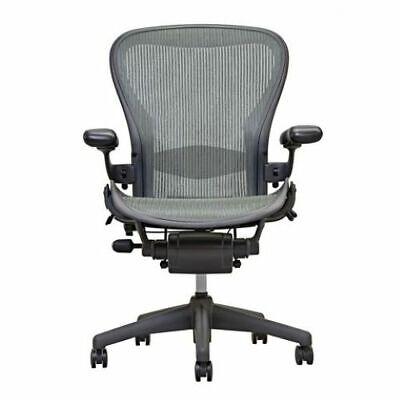 Herman Miller Aeron Chair  Grey  Lead  Open Box  Size B