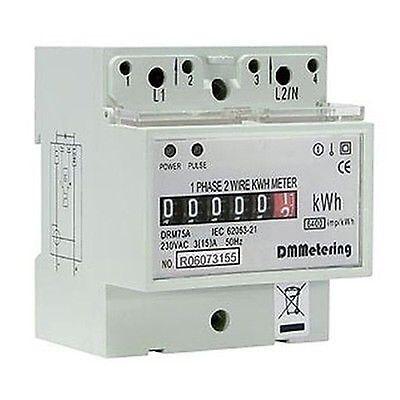 CONTATORE ENERGIA ELETTRICA DRM-75A 60A CLASSE1 CORRENTE KILOWATT ELETTRICO