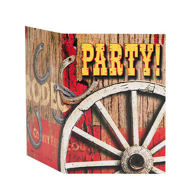 8 CT Rodeo Western Invites (Country Western Birthday Invitations)