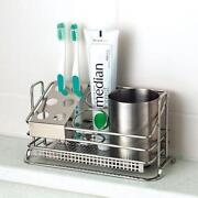 Silver Toothbrush Holder
