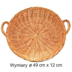 Kosz wiklinowy / Wicker basket - <span itemprop=availableAtOrFrom>Zmigród, Polska</span> - Zwroty są przyjmowane - Zmigród, Polska