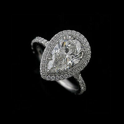 Diamond Cut Down Micro Pave Platinum Engagement Ring Mounting ()