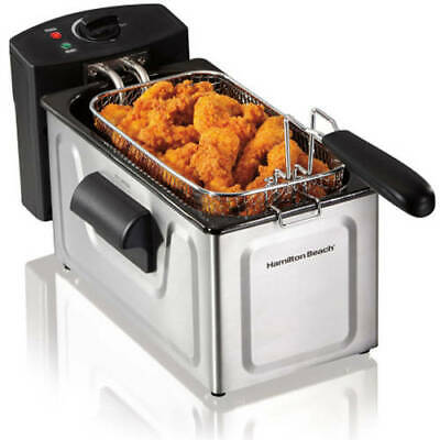Professional-Style Electric Deep Fryer Cooker Home Countertop Basket Fries 2 L