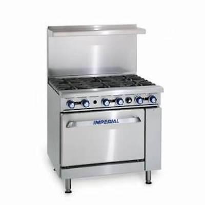 Restaurant Range Gas Oven 6 Burner Ir-6 Imperial