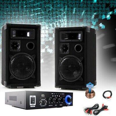 ikanlage Boxen Verstärker USB SD MP3 Partyanlage Bluetooth (Boxen Party)