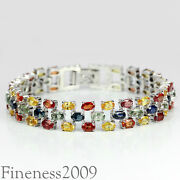 Sterling Multi Gemstone Bracelet